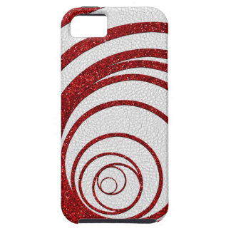Red Glitter Swirly Case For The iPhone 5