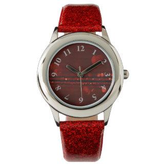 Red glitter watch