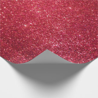Red Glitter Wrapping Paper