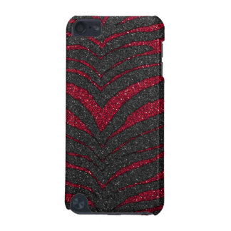 Red Glitter Zebra Print iPod Touch (5th Generation) Cover