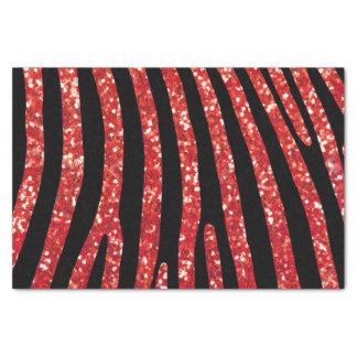 Red Glitter Zebra Stripe Tissue Paper