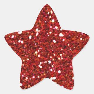 Red Glitters Sticker