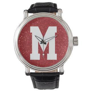 Red Glitz Superstar Monogram Wristwatch