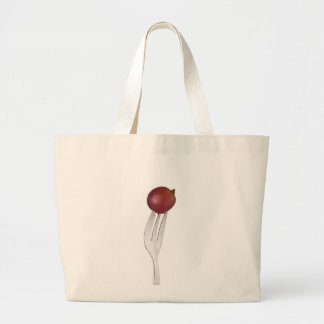 Red Globe grape held by a fork Tote Bag
