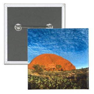 Red Glow of the Famous Ayers Rock in the Outback 15 Cm Square Badge