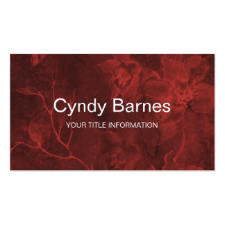 Red Glowing Floral Watercolor Business Cards
