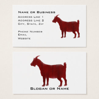 Red Goat Farmer and Veterinary Business Card