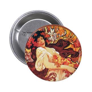 Red Goddess Pinback Buttons