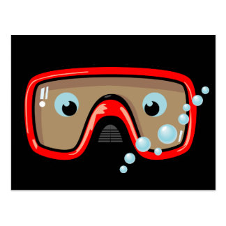 Red Goggles Postcard