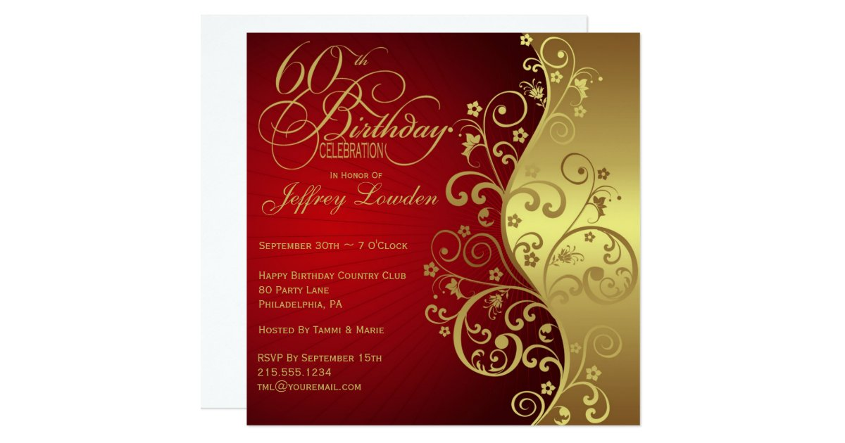 60th Birthday Invitations Announcements – 60th Birthday Invitations Australia