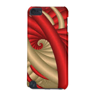 REd & Gold Abstract Pattern iPod Touch 5G Cover