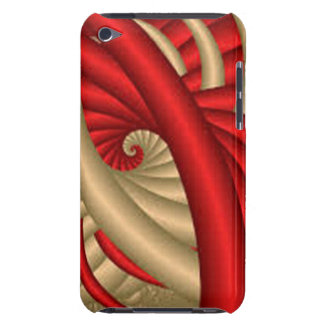 REd & Gold Abstract Pattern iPod Touch Case-Mate Case