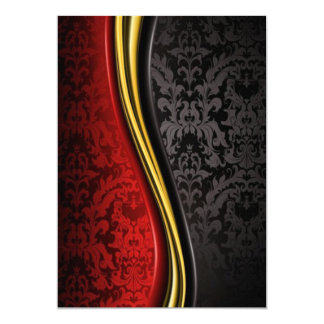 red gold and black baroque invitation cards classy