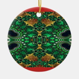Red Gold and Green Decorative Holiday Ornament