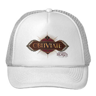 Red & Gold Art Deco Obliviate Spell Graphic Cap