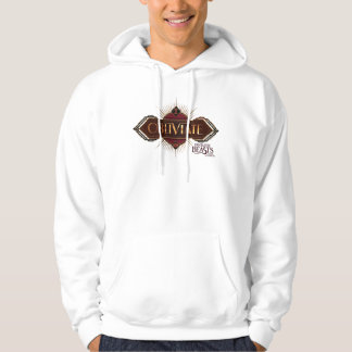Red & Gold Art Deco Obliviate Spell Graphic Hoodie