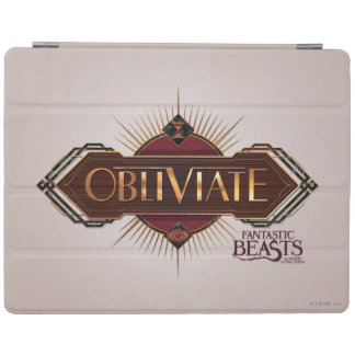 Red & Gold Art Deco Obliviate Spell Graphic iPad Cover