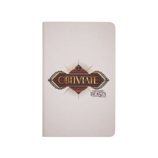 Red & Gold Art Deco Obliviate Spell Graphic Journal