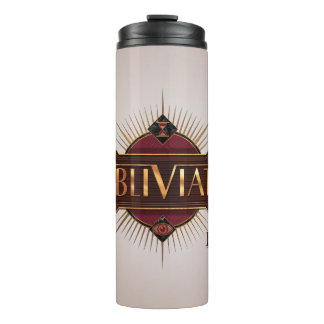 Red & Gold Art Deco Obliviate Spell Graphic Thermal Tumbler