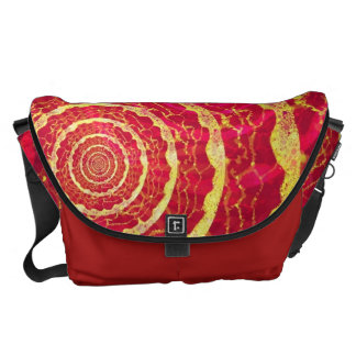 Red & Gold Circles Commuter Bags