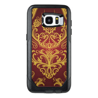 Red & Gold Damask 1 OtterBox Samsung Galaxy S7 Edge Case