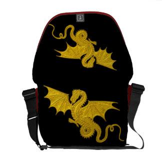 Red Gold Dragon Rickshaw Bag Messenger Bag