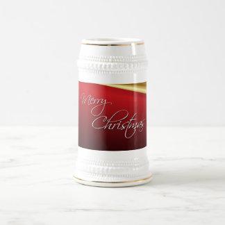Red & Gold Elegant Christmas Beer Steins