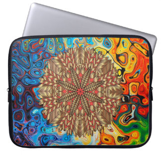 Red Gold Fall Nature Festival Laptop Sleeve