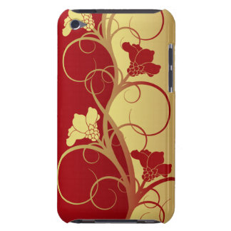 Red/Gold Flowers iPod Touch 4 Case