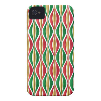 Red Gold Green Waves iPhone 4 Case-Mate Case