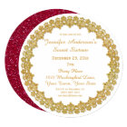 Red Gold Holiday Sweet Sixteen Card