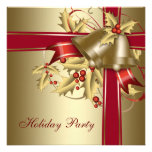Red Gold Holly Corporate Christmas Holiday Party