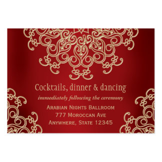 Red Gold Indian Inspired Reception Enclosure Card Pack Of Chubby Business Cards