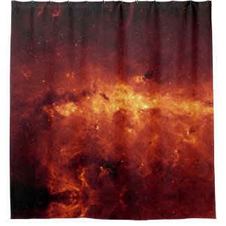 Red & Gold Milky Way | Shower Curtain