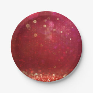 Red & Gold Moroccan Arabian Nights Wedding Paper Plate