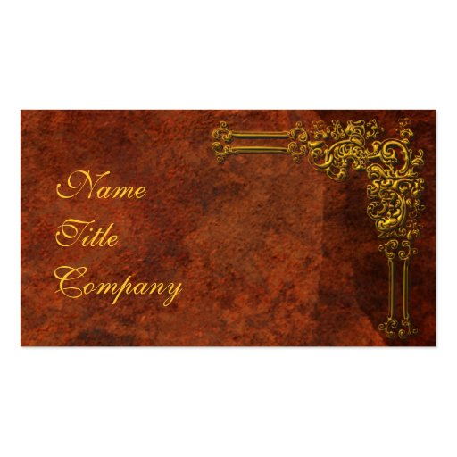 Red-Gold Ornamental Business Card