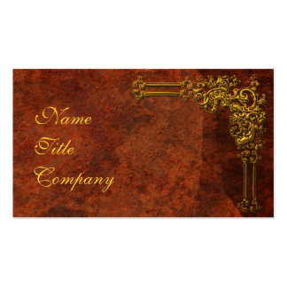 Red-Gold Ornamental Pack Of Standard Business Cards