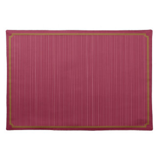Red Gold Pinstripe Cloth Placemat