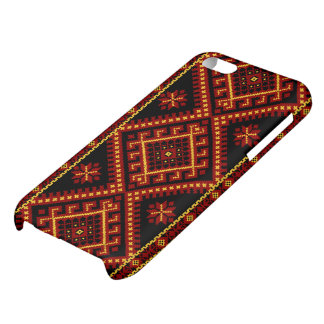 Red Gold Print Case Ukrainian Print iPhone 5C Cover