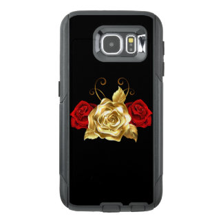 Red & Gold Rose Cell Phone Case