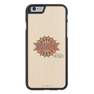 Red & Gold Stupefy Spell Graphic Carved Maple iPhone 6 Case