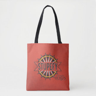 Red & Gold Stupefy Spell Graphic Tote Bag