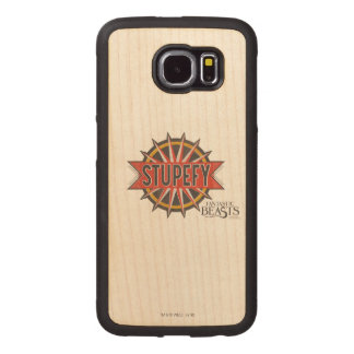Red & Gold Stupefy Spell Graphic Wood Phone Case
