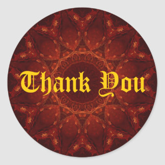 Red & Gold Thank You Sticker