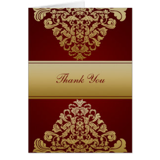 red gold wedding ThankYou Cards