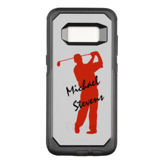 Red Golf Swing Personalized OtterBox Commuter Samsung Galaxy S8 Case