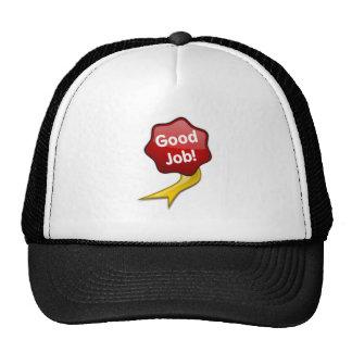 Red Good Job Ribbon Hat