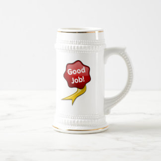 Red Good Job Ribbon Coffee Mug