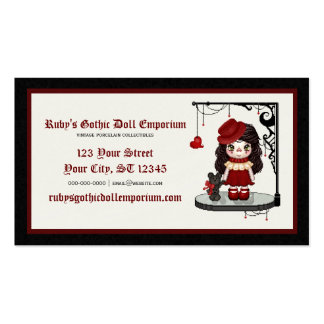 Red Gothic Love Doll Pixel Art Pack Of Standard Business Cards