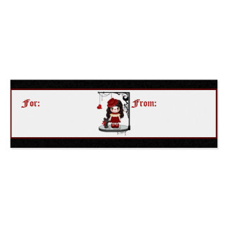 Red Gothic Love Doll Pixel Art Pack Of Skinny Business Cards